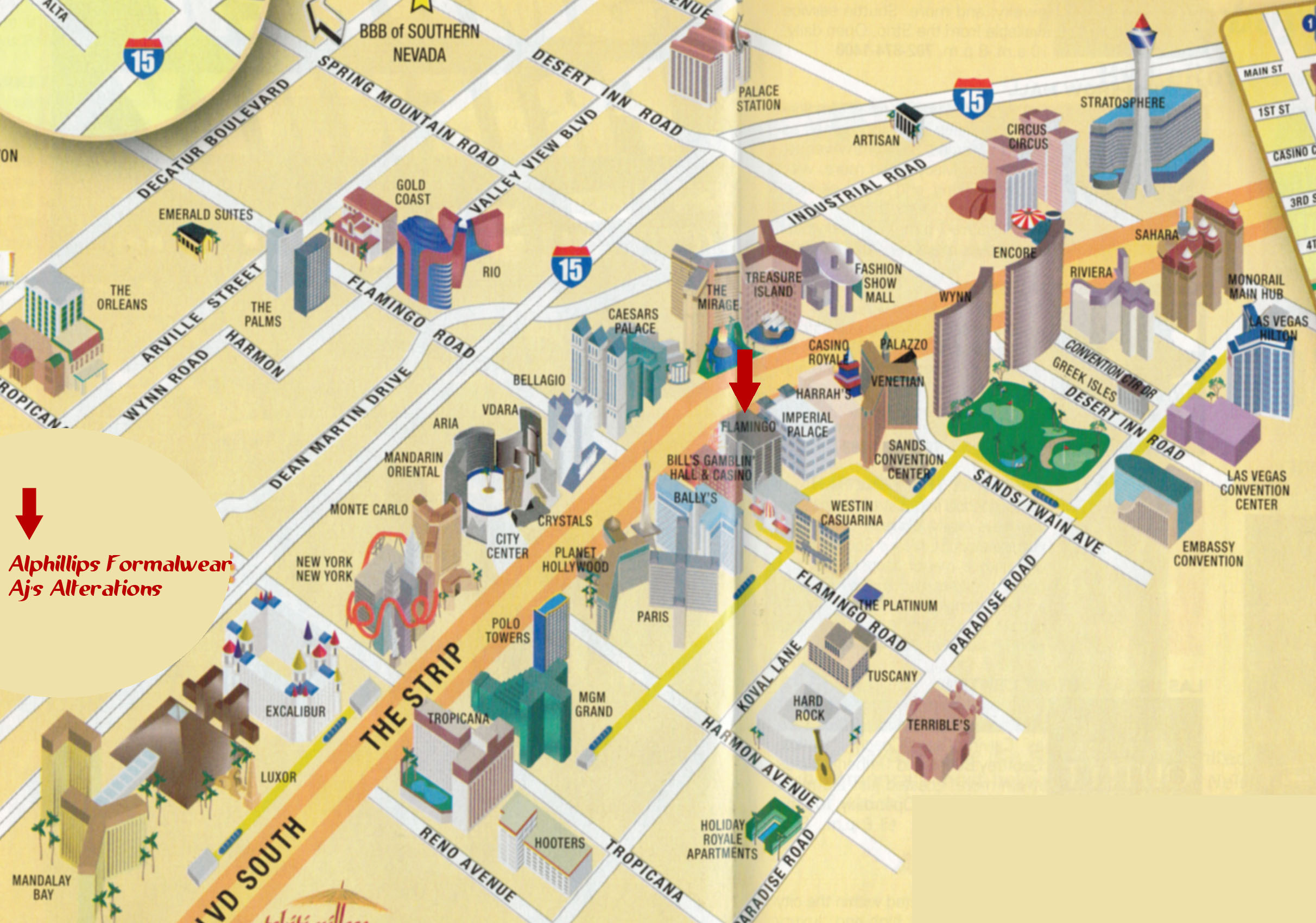 Index of GalleryLas Vegas – Tourist Map Of Las Vegas